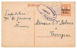 OC HASSELT 1.7.1918 Op Briefkaart Censure Postueberwachungsstelle Gepruft Hasselt - [OC1/25] Gen. Gouv.