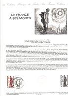 DOCUMENT FDC 1985 LA FRANCE A SES MORTS - DESSIN DE DECARIS - Documents De La Poste