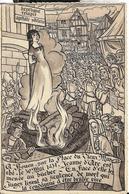ROUEN Place Du Vieux Mrché, Le 30/05/1431, Jeanne-d'Arc Est Menée Au Bûcher... Ed. Gaby-artaud (10,5x16cm) - Rouen