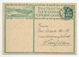 """Schweiz Suisse 1929: Bild-PK CPI """"EINSIEDELN"""" (gezähnt Perforé) Mit Stempel TÖSS 22.VIII.29 (WINTERTHUR) Nach Weinfelden - Interi Postali"""