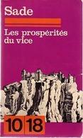 Les Prospérités Du Vice De D.A.F. Marquis De Sade (1969) - Bücher, Zeitschriften, Comics