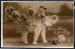 FANTAISIE - ANIMAUX - ELEPHANT - FLEURS - FLEUR - Elefanten