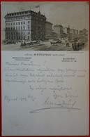 HUNGARY - BUDAPEST - HOTEL METROPOLE SZALLODA - Ungheria