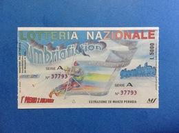 1993 BIGLIETTO LOTTERIA NAZIONALE UMBRIAFICTION - Biglietti Della Lotteria