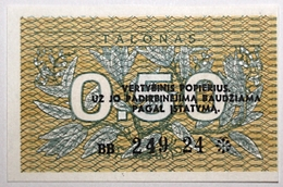 Lituanie - 0,5 Talonas - 1991 - PICK 31b - NEUF - Lituanie