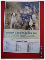CAL1010  . CALENDRIER 1986 35 X 24  POLIOS DE FRANCE   CHASSEUR BEAU GIBIER CHIEN .. - Calendriers