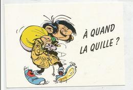 """Gaston Lagaffe Et Sac De Marin : """"A Quand La Quille?"""". Signée Franquin - Bandes Dessinées"""