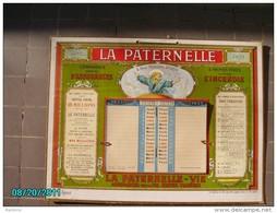 CAL1    P0371  LA  PATERNELLE   1933  ASSURANCES   4 RUE MENARS  PARIS   37 X 28 CARTON LUXE DORURES  CHACOUIN  Imp. - Calendriers