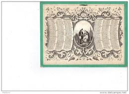 CAL149  CALENDRIER  1841 RARE Marcilly  Libraire Paris  21X16 Fille Mére Amant...tombe Mére. Taille Douce N°10  . - Calendari