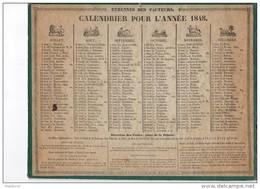 CAL159    CALENDRIER   Almanach  ZODIAQUE   De   1848  Par  .FOLLIGNE  à  RENNES  ETRENNES  DES  FACTEURS - Calendari