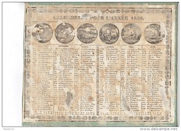 CAL187  .ALMANACH  CALENDRIER   1838    CHAILLOT  à  AVIGNON .LES MOIS  Femmes  . ETAT - Formato Grande : ...-1900