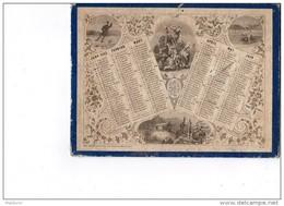 CAL205  ALMANACH POSTES  RARE N° 35  De 1863  MAC  HENRY Paris Moisson Chasse  Cueillette  Pêche  Patinage  Bergéres. - Calendari