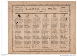 CAL211  .ALMANACH   Des  POSTES   1865 ..ZODIAQUE  OBERTHUR  Livret  Pour La  France - Calendari