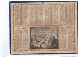 CAL218  .ALMANACH   Des  POSTES   1867 .signé VAUMORT  OBERTHUR  PARIS  ENFANTS JEUX Aux TUILERIES - Calendari