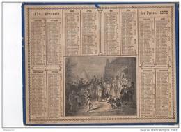 CAL221 .ALMANACH   Des  POSTES  1870 .signé Vaumort.  OBERTHUR   NOCES  BRETONNES Sortie église ..BRETAGNE  . - Calendari