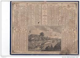 CAL224   .ALMANACH  Des  POSTES  1873 .signé  Bisson .  OBERTHUR   ISTHME DE  SUEZ  .canal   EGYPTE - Calendari