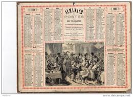 CAL231 .   1882 . BEUVERIE  A  VERSAILLES  ALMANACH  Signé  PANNEMAKER  Paris - Calendari