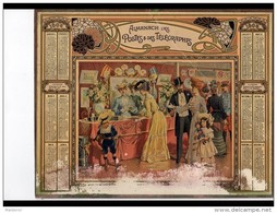CAL242   ALMANACH  DES POSTES  1906  .faiences Stand  Exposition  Fillete Poupée  A RESTAURER  Grand Pli  Bas Effacé - Calendari