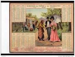 CAL245   ALMANACH  DES POSTES  1908  Bissextile .GITANS  CAMPEMENT  ROMANICHELS   Bonne Aventure - Groot Formaat: 1901-20