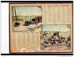 CAL247   ALMANACH  DES POSTES  1910 ..AUTOMOBILE    FACHEUSE MEPRISE  CHASSEURS  CHAUFFEUR - Groot Formaat: 1901-20