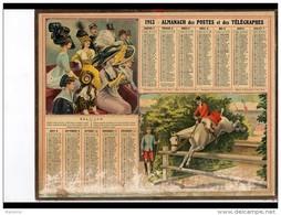 CAL250   ALMANACH  DES POSTES  1913 ..CONCOURS HIPPIQUE   HAIE   FEMMES . - Calendari