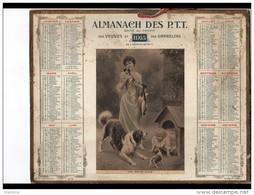 CAL252  ALMANACH  DES POSTES  1915  Profit  Des Veuves Et Orphelins..Mazerand  éd.de L'orphelinat.UNE BONNE NICHE Femme - Groot Formaat: 1901-20