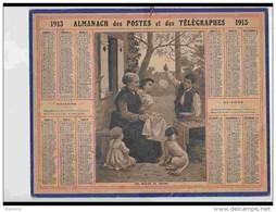 CAL210   ALMANACH DE 1913  BULLES DE SAVON   Feuillets Sur Hérault - Groot Formaat: 1901-20