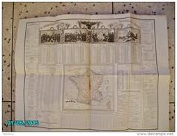 CAL277    CALENDRIER  1834  INDICATEUR  72 X 55  NAPOLEON   Taille Fine De HOUISTE ,imp: BINET Et DE GOETSCHY  . - Calendriers