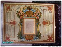 CAL280    CALENDRIER  1886  PAPETERIE .A LA VILLE D ' ANGOULEME  42 X 32  H. RIEUSSET  27 RUE AIGUILLERIE MONTPELLIER - Calendriers
