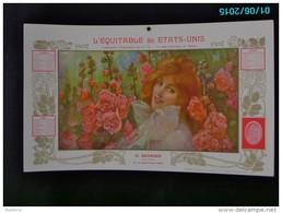 CAL286   CALENDRIER 1902 Signé SIMONIDY PRINTEMPS  FEMME AUX ROSES  EQUITABLE Des ETATS UNIS  Dijon Assurances 40 X 24. - Groot Formaat: 1901-20