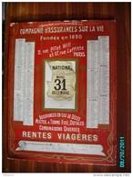 CAL289   CALENDRIER 1907. ASSURANCE LA NATIONALE  17 RUE LAFFITTE PARIS 44 X 33  Dorures  Fraîches Carton Fort - Groot Formaat: 1901-20