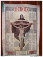 CAL291   CALENDRIER 1912... LA CROIX  JESUS CHRIST  Par JM BRETON  VIERGE A PONTMAIN  35 X 24  ART NOUVEAU - Calendari