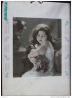 CAL292  MAGNIFIQUE  CALENDRIER  TAILLE DOUCE Signé X.BRICARD 1914..MATERNITE  FILLETTE POUPEE  72 X 52  ART NOUVEAU. - Calendari