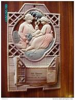 CAL297   CALENDRIER GAUFRE  1916.. EPICERIE FIS A POUZOLLES  FEMME. Lapins Salades.homme  30 X24  + Porte Courrier .. - Calendari