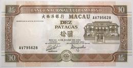 Macao - 10 Patacas - 1991 - PICK 65a - NEUF - Macao