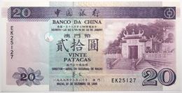 Macao - 20 Patacas - 1999 - PICK 96 - NEUF - Macao