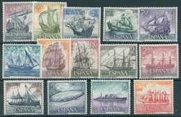 ESPAÑA 1964. Edifil **1599/1612 - Homenaje A La Marina Española - 1931-Oggi: 2. Rep. - ... Juan Carlos I