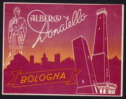 BOLOGNA Hotel DONATELLO Luggage Label - 10 X 13 Cm (see Sales Conditions) - Hotel Labels