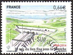 France Oblitération Cachet à Date N° 4861 Anniversaire De Tunnel De La Manche - Used Stamps