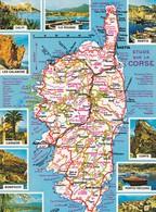 20. CORSE. 2 CPSM.  MULTI VUES. LA CORSE TOURISTIQUE ET ROUTIERE - Corse