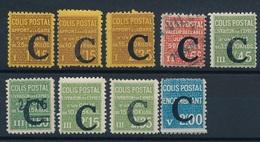 """DG-12: FRANCE: Lot """"COLIS POSTAUX"""" Avec N°108*-110*-11*-112 Obl-113/115*-117*-118*- - Neufs"""