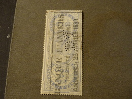 BELGIQUE FISCAL PERFORE PERFIN 1889 ! - Timbres