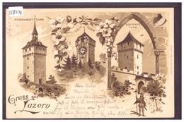GRUSS AUS LUZERN - BRAUN LITHO - TB - LU Lucerne