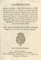 1797. INSTRUCCION PARA DIRIGIR CON SEGURIDAD Y SIN ATRASO LAS CARTAS Y PLIEGOS A TODOS LOS PUEBLOS, GRANJAS, VENTAS, CAS - Libros, Revistas, Cómics