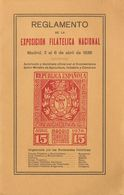 1936. REGLAMENTO DE LA EXPOSICION FILATELICA INTERNACIONAL DE MADRID DEL 2 AL 6 DE ABRIL DE 1936. Miguel Gálvez. Madrid, - Livres, BD, Revues