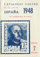1948. CATALOGO GALVEZ DE SELLOS DE ESPAÑA 1948. Edición M.Gálvez. Madrid, 1948. (rarísimo Y Excelente Estado De Conserva - Livres, BD, Revues
