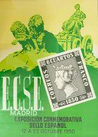 1950. Precioso Cartel Publicitario De La EXPOSICION CONMEMORATIVA DEL SELLO ESPAÑOL, Celebrada En Madrid Del 12 Al 22 De - Libros, Revistas, Cómics