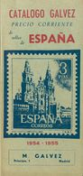 1954. CATALOGO GALVEZ DE SELLOS DE ESPAÑA, 1954-1955. Manuel Gálvez. Madrid, 1954. (raro Y Excelente Estado De Conservac - Livres, BD, Revues