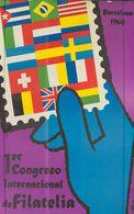 1960. Cartel Del 1º CONGRESO INTERNACIONAL DE FILATELIA (Mir). Barcelona 1960. MAGNIFICO Y RARISIMO. - Livres, BD, Revues