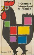 1960. Cartel Del 1º CONGRESO INTERNACIONAL DE FILATELIA (Santamaría). Barcelona 1960 (leves Defectos Sin Importancia). M - Libros, Revistas, Cómics
